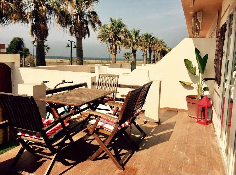 Casa en primera linea de playa en Tarifa
